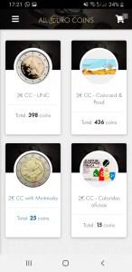 Pantalla Inicio All Euro Coins