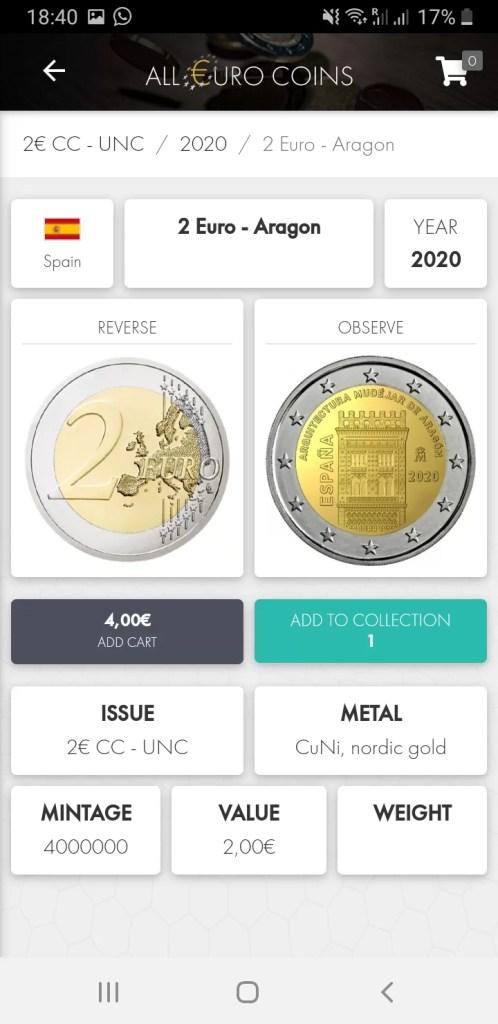 Pantalla Moneda Individual con Datos