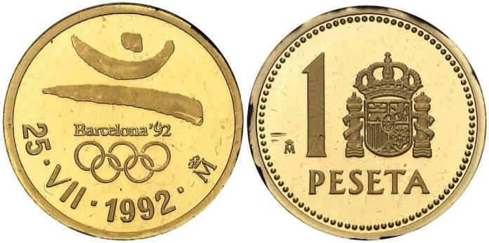 1 Peseta 1992 JJOO Barcelona Oro