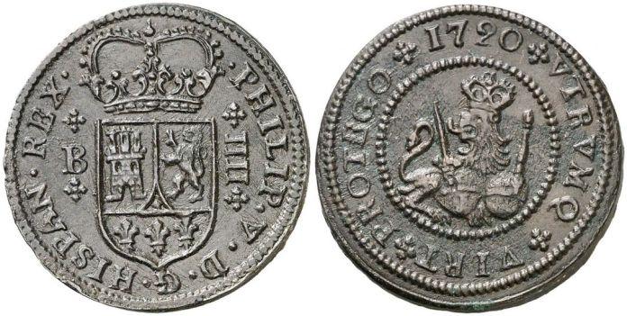 4 maravedís Felipe V 1720