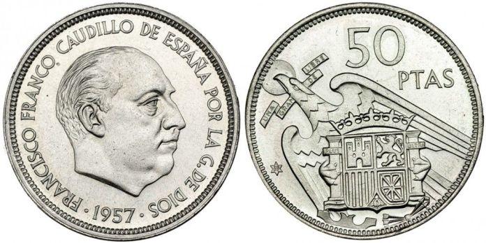 50 pesetas 1957 *69