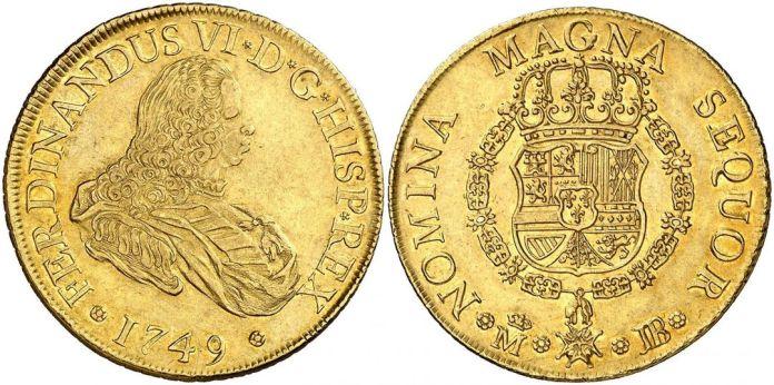 8 escudos Fernando VI 1749