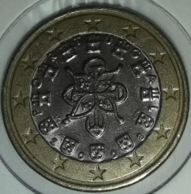 1 Euro Portugal 2008 Mapa Antiguo Reverso