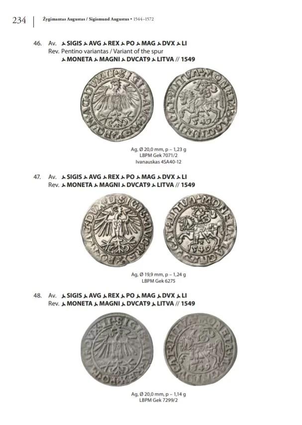 Monedas Segismundo II Augusto Gran Ducado de Lituania