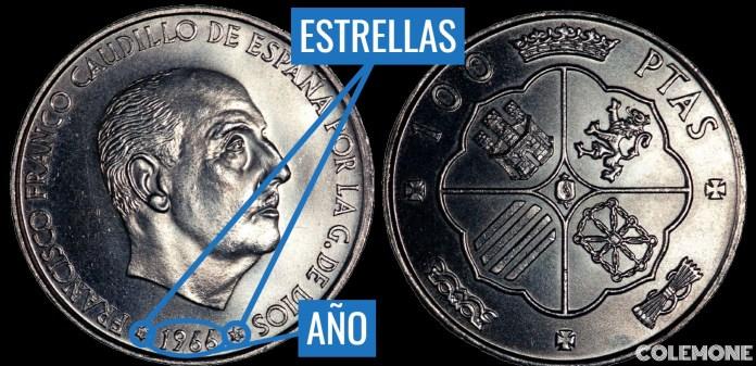 100 pesetas 1966
