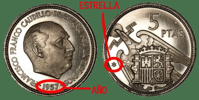 5 pesetas 1957