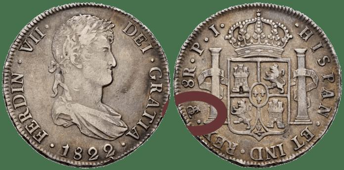 Marca de Ceca Potosí 8 reales 1822