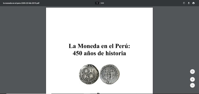 moneda perú chrome