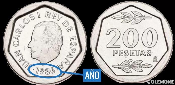 200 Pesetas 1986