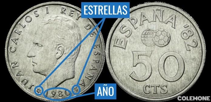 50 Centimos 1980