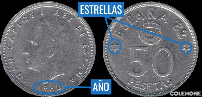50 Pesetas 1980 82