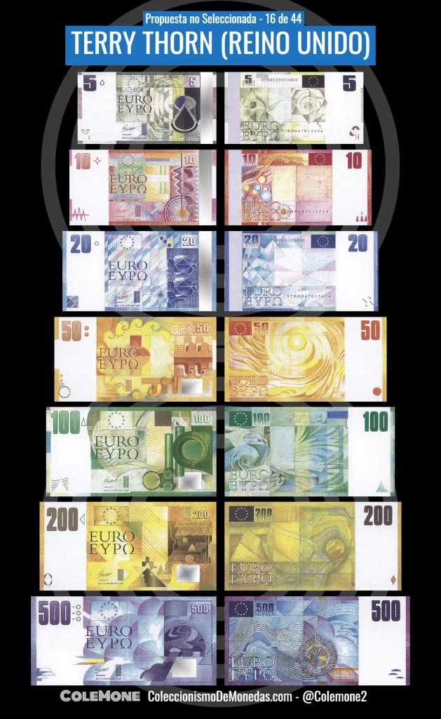Diseño Perdedor Billete Euro 16 Thorn