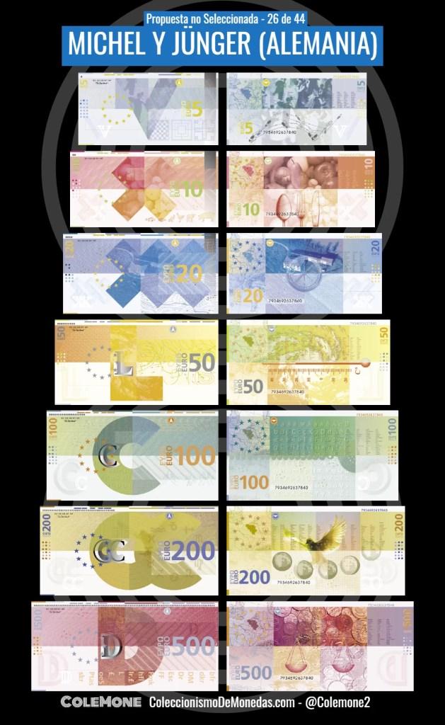 Diseño Perdedor Billete Euro 26 Michel