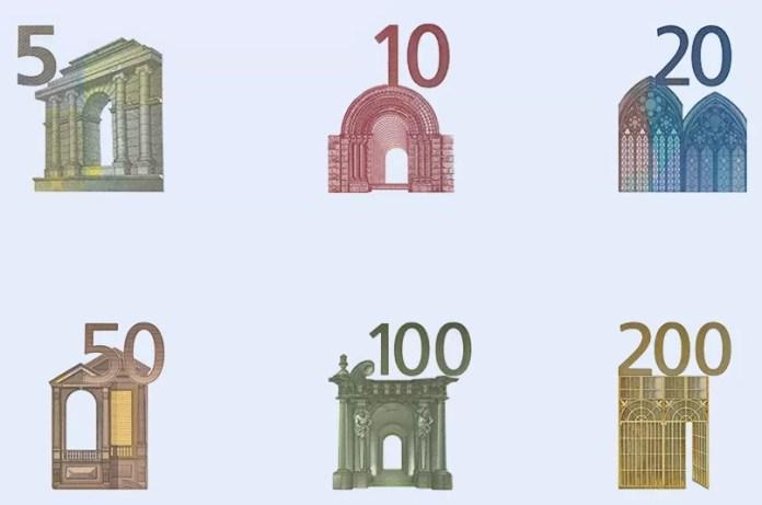 Elementos Diseño Billetes Euro