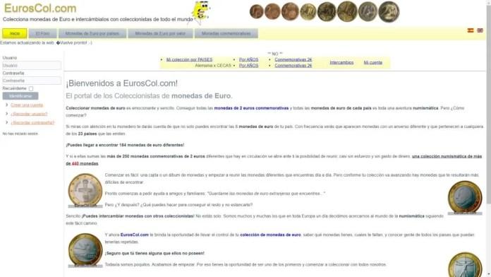 Página de intercambio de monedas - euroscol