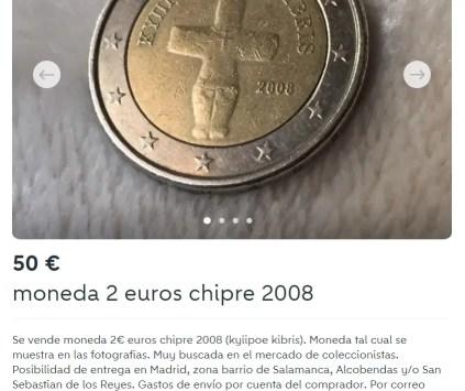 2 Euros Chipre 2008 Mientiendo en Valor