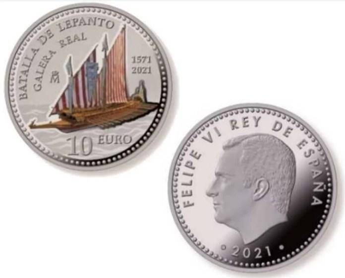10 euros españa 2021 lepanto