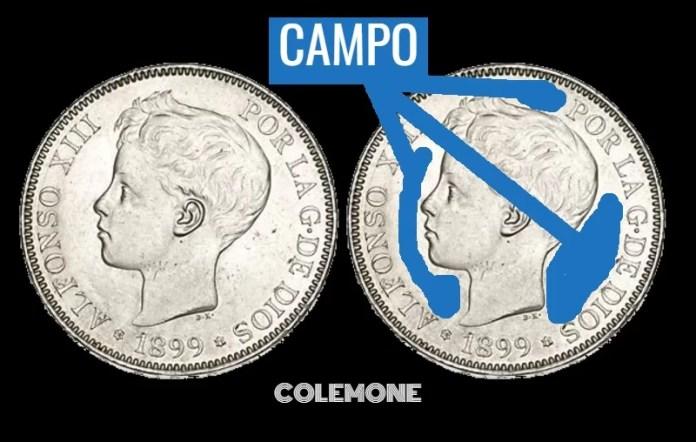 5 pesetas 1899 Campo