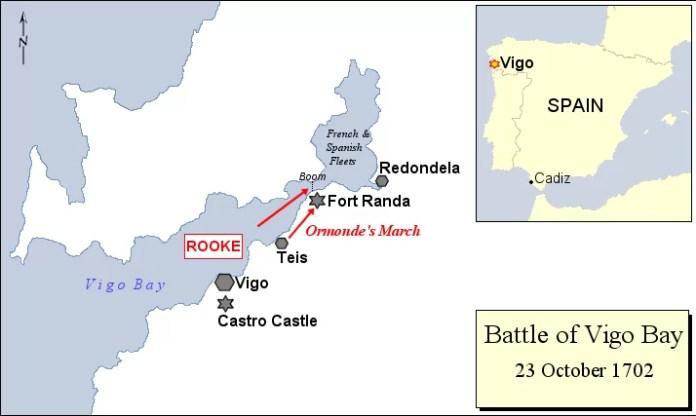 Mapa Batalla de Rande