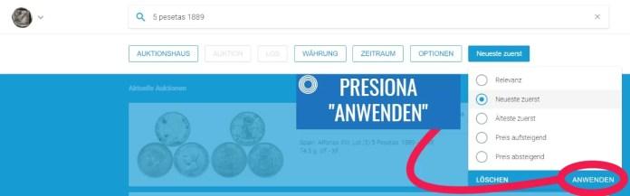 Valor Moneda Antigua Sixbid Paso 4