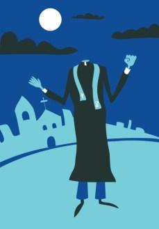 Padre sem cabeça (assombração):Se a mulher que tem relações com o padre vira mula-sem-cabeça, o religioso se transformaria no Padre sem cabeça. Persegue as vítimas pagando penitência que perdurará por uma eternidade de assombração.