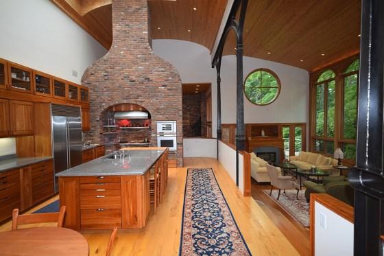 vermont custom sculpture house kitchen