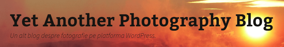 Yet another photography blog