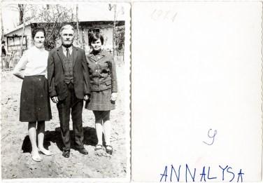 Familie. Annalysa Costică Acsinte din casele noastre Arhiva personală Maura Aron, Grivița
