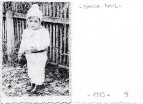 Copil. 1983. Bianca David Costică Acsinte din casele noastre Arhiva personală Maura Aron, Grivița