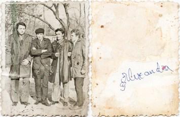 Patru bărbați. Alexandra Costică Acsinte din casele noastre Arhiva personală Maura Aron, Grivița