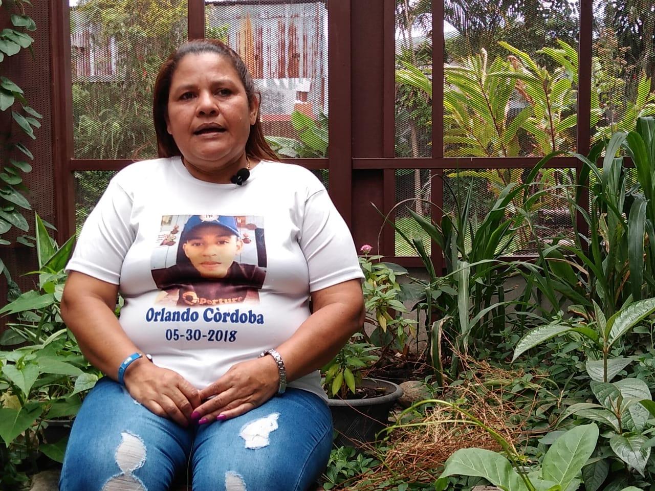 Yadira Córdoba madre en el exilio