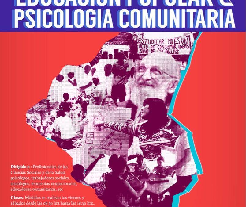 2a. Versión del DIPLOMADO»Psicología Comunitaria y Educación Popular»