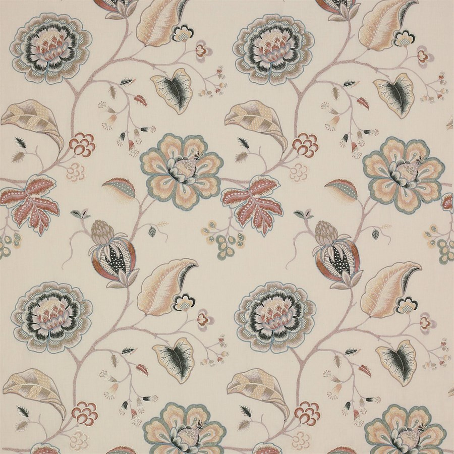 pics Flower Carpet Portia portia fabric in stone by colefax and