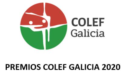 PREMIOS COLEF GALICIA 2020