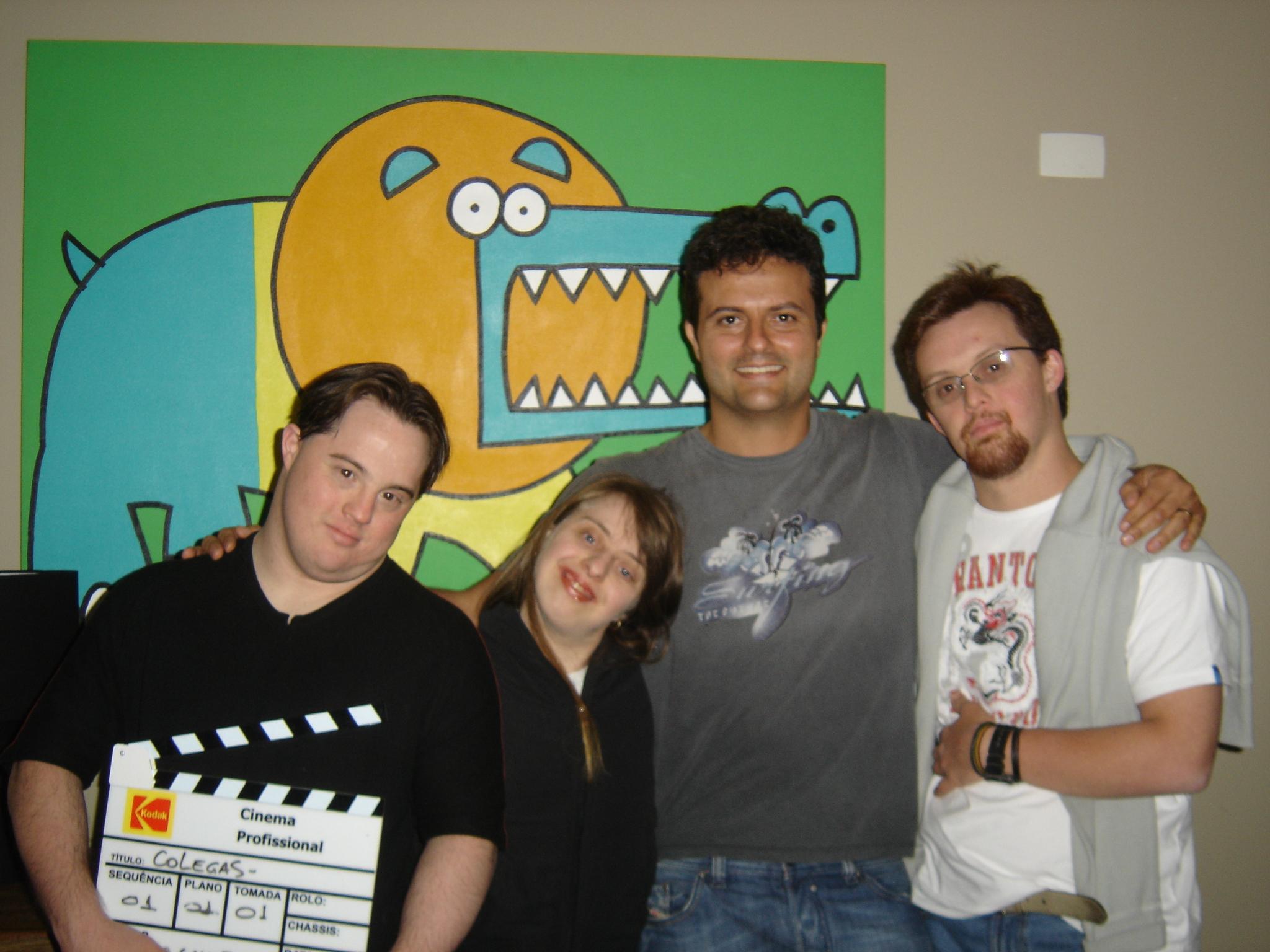 Ariel, Ritinha, o diretor Marcelo Galvão e Rodrigo