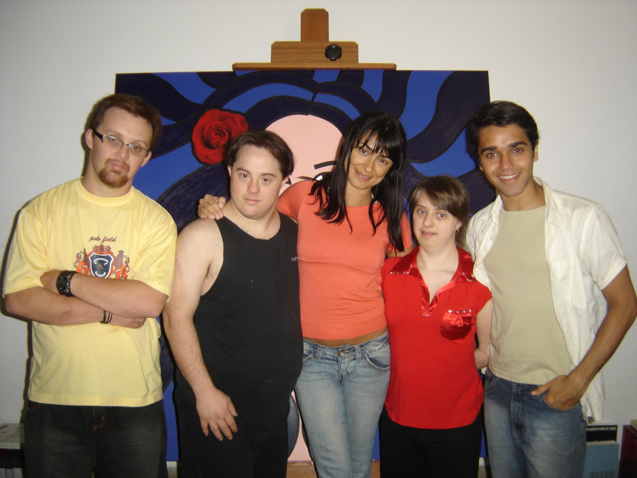 Rodrigão, Ariel, eu, Ritinha e Elder Torres