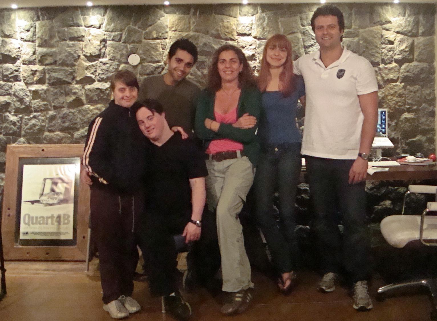 Rita, Ariel, Elder, Andréa, Alek e Galvão