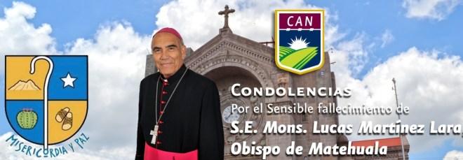 Condolencias - Mons. Lucas Martínez