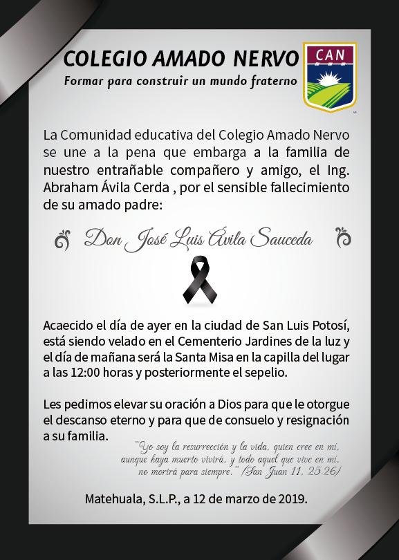 Condolencias para la familia Avila Cerda.