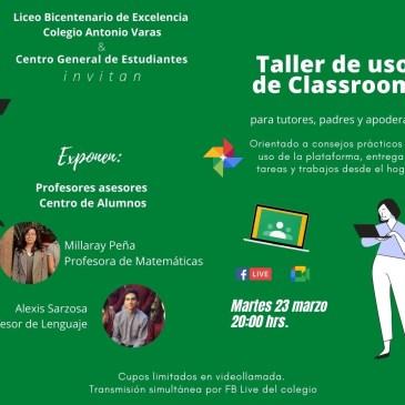 Realizarán Taller sobre el Uso de la Plataforma Classroom