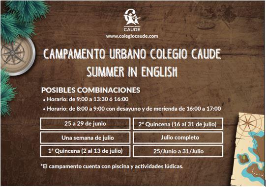 Summer in English, Caude School