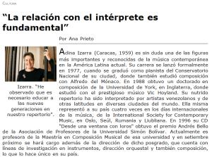 Adina Izarra - entrevista en Andes on line