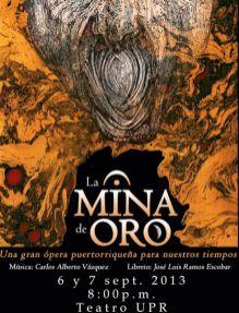 Ópera La Mina de Oro, cartel 1