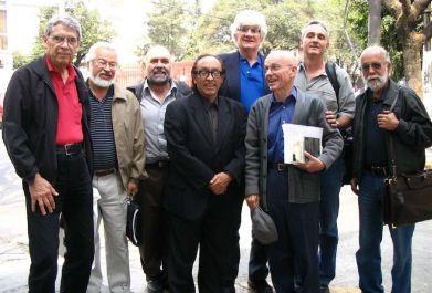Colegio de Compositores: lanza, Aponte, Cáceres, Valcárcel, Nobre, Gerard Béhague, Vázquez, Kuri Aldana [Foto: alcides lanza]