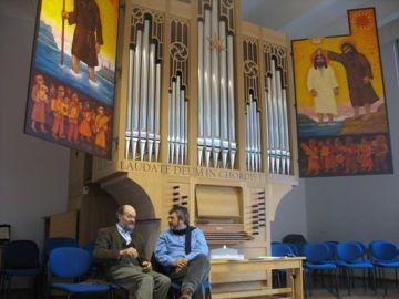 Boris Alvarado (Chile) y Arvo Pärt (Estonia) en Tallinn