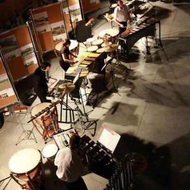 Estreno de la obra 'Der Kaunk' para 4 percusionistas de Boris Alvarado. Ensamble de Percusión Podlaska de Polonia