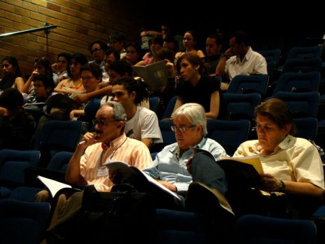 Jurado Festival ClariEafit. 2009 - Jaime Uribe, Andrés Posada y Francesco Belli