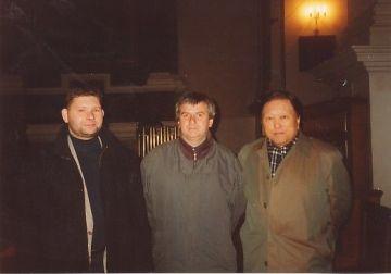 Pawel Lukazewski (Polonia), Boris Alvarado (Chile) y Suki Khang (Corea) Festival Laboratorio de Música Contemporanea, Varsovia Polonia