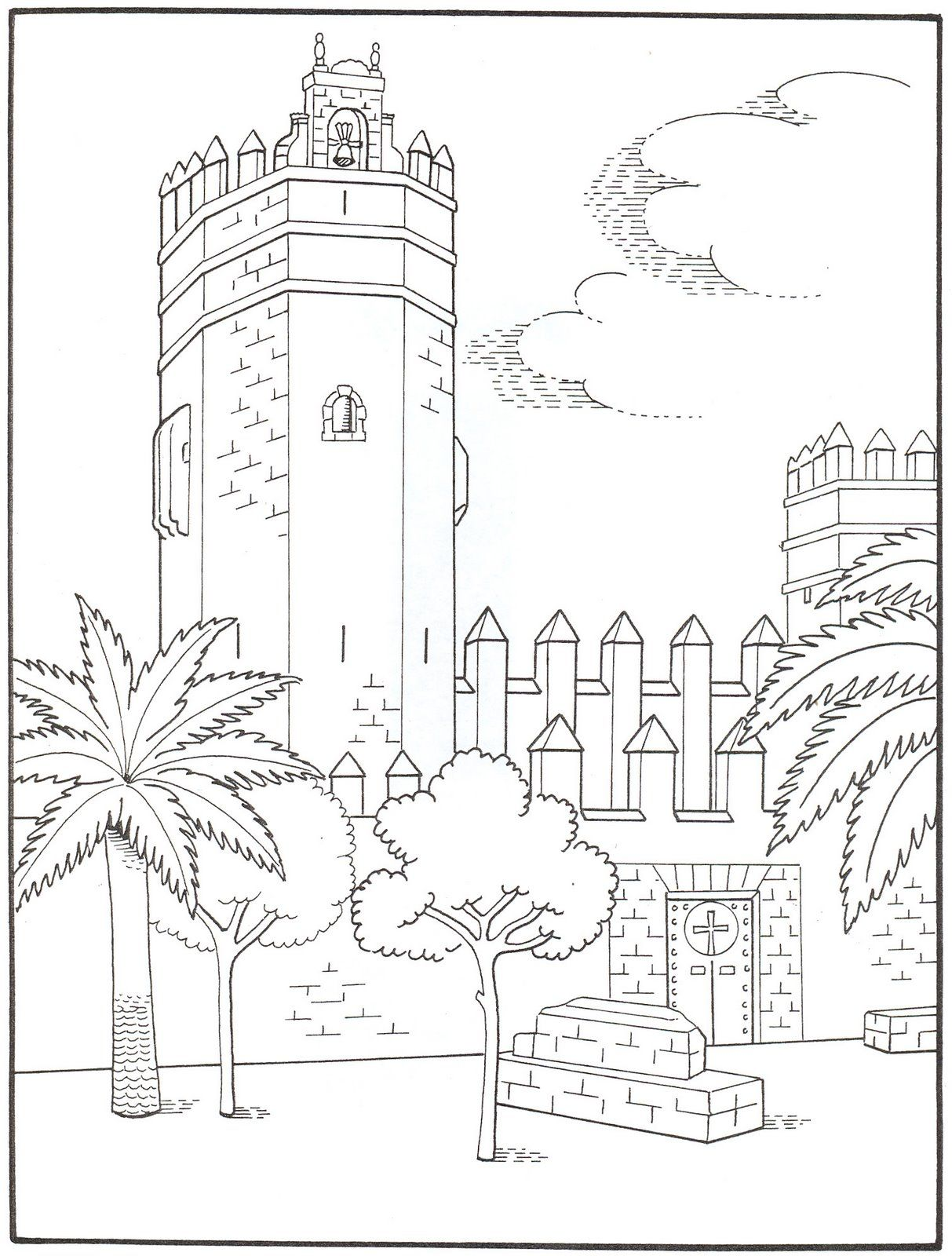 Colorea…para el día de Andalucía