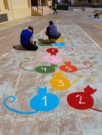 Juegos tradicionales en el patio  CEIP PABLO NERUDA